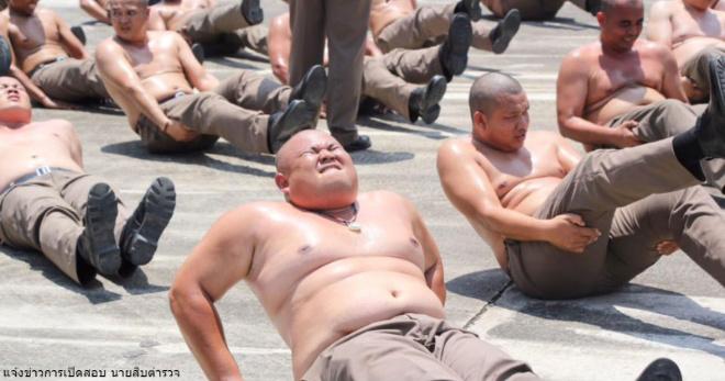 В Таиланде пухлых полицейских отправили в лагерь – сгонять лишний вес
