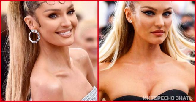 Вот как на модели Victoria's Secret сидят платья до и после увеличения груди
