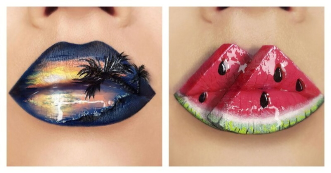 Украинская художница превращает губы в произведения искусства