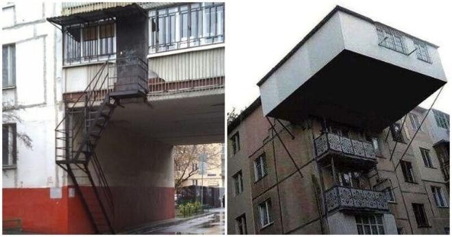Сумасшедше балконы, которых не должно было быть