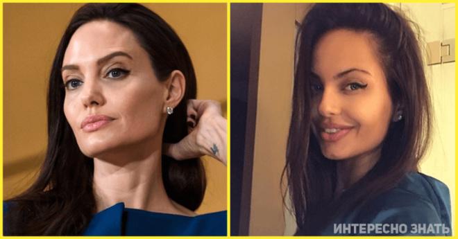 Двойник Анджелины Джоли из России активно пользуется сходством со звездой