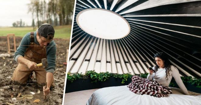 Супруги построили юрту за год – домик мечты, стоимостью 4 миллиона