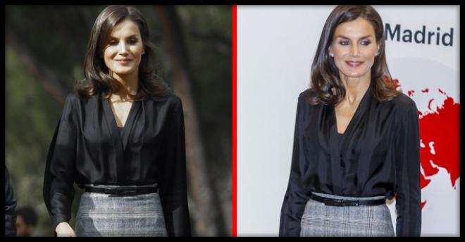 «Будь проще»: Королева Испании вышла в свет в дешевой юбке из масс-маркета