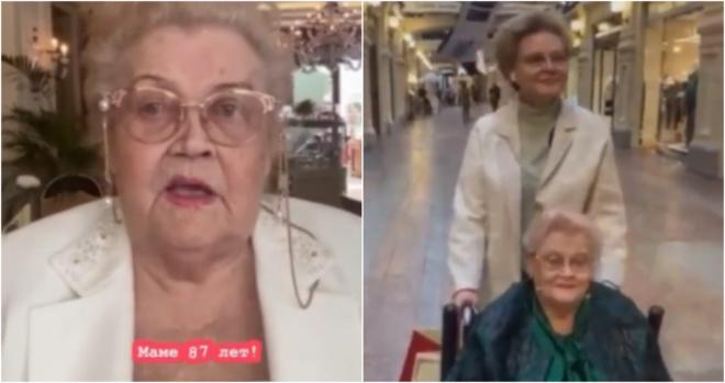 Малышева и ее 87-летняя мать гуляют по Москве без масок