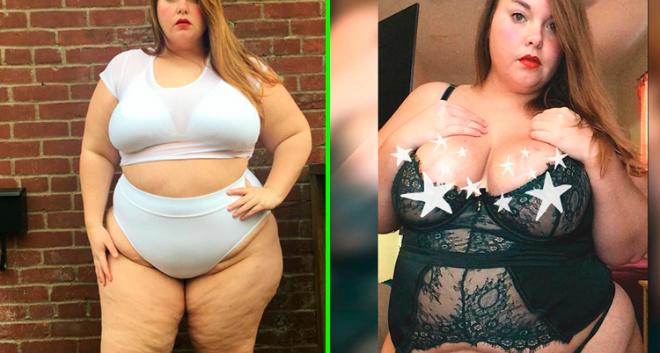 168-килограммовая модель с гордостью демонстрирует свое тело. Ее не останавливают даже злостные комментарии пользователей