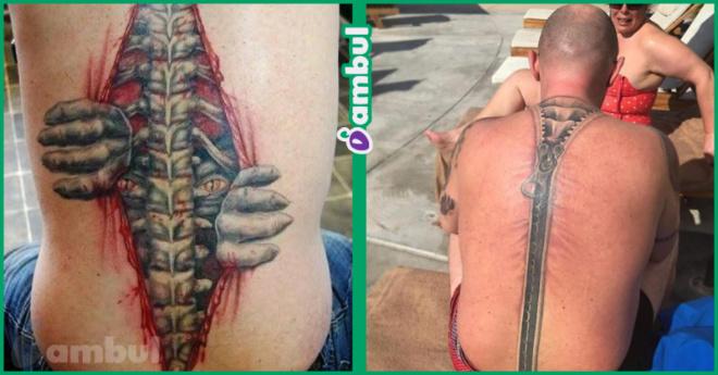 10 эффектных татуировок, от которых немного не по себе