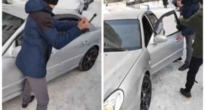 Екатеринбуржец выбил окно в своем авто ради проезда «Скорой»