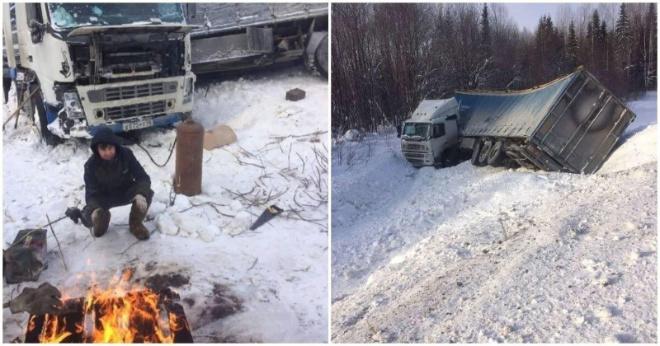 Отец-одиночка из Орска неделю ждал помощи на трассе в 40-градусный мороз