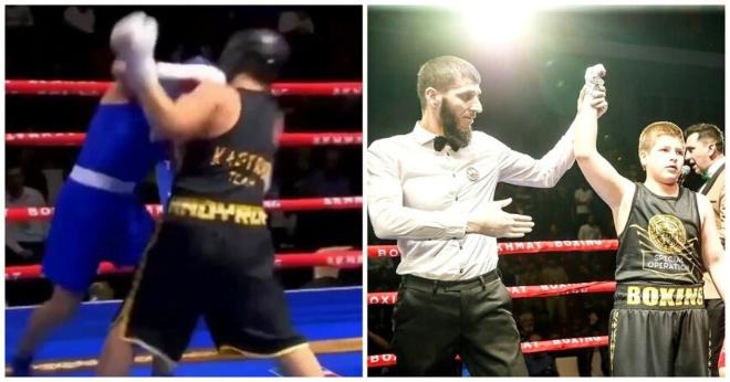 Сыну Рамзана Кадырова присудили очень спорную победу в боксерском поединке