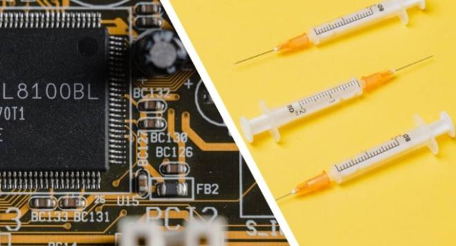 В США создали самый маленький в мире чип, для вживления в человека с помощью иглы