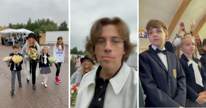 Галкин показал линейку в элитной школе, где учатся Лиза и Гарри