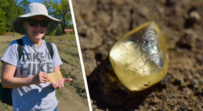 Американская пенсионерка за час копания в грязи нашла самый крупный бриллиант сезона